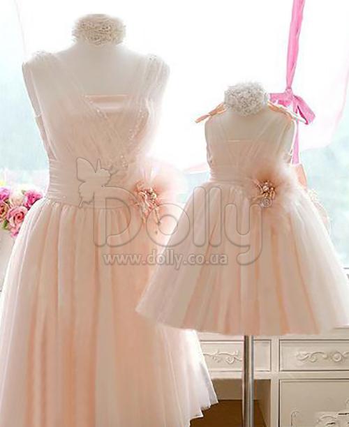 Платье Круз персиковое