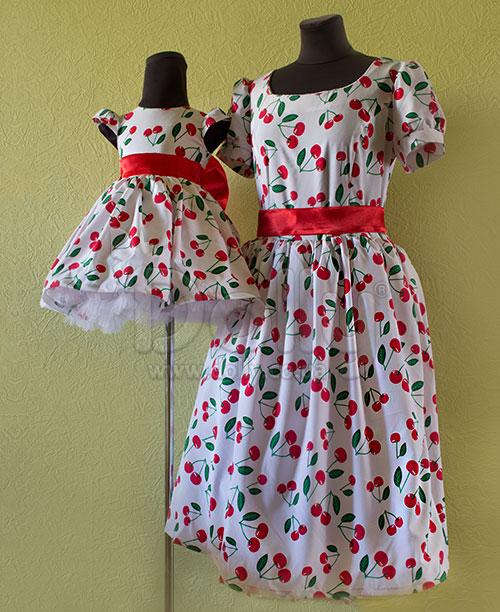 Платье Черри разноцветное