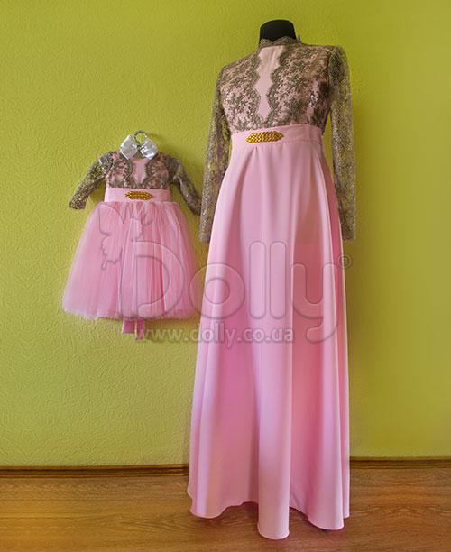 Платье Розель розовое