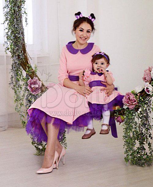 Платье Ариан розово-фиолетовое