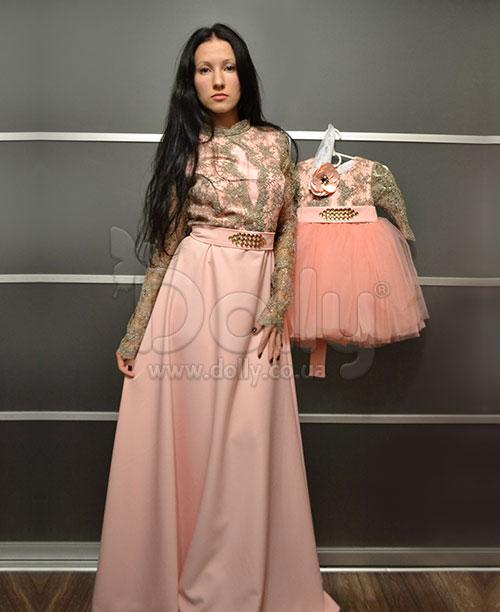 Платье Розель персиковое