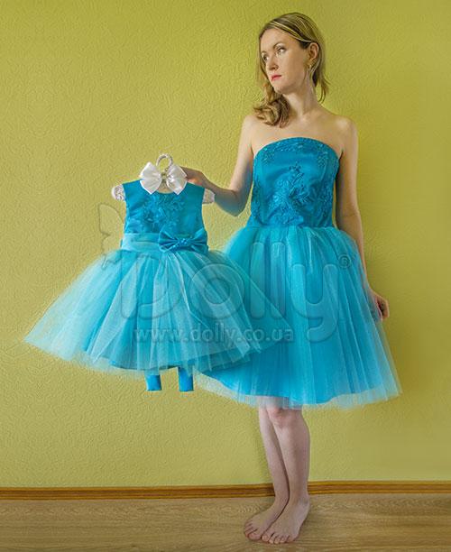 Платье Анетти голубое