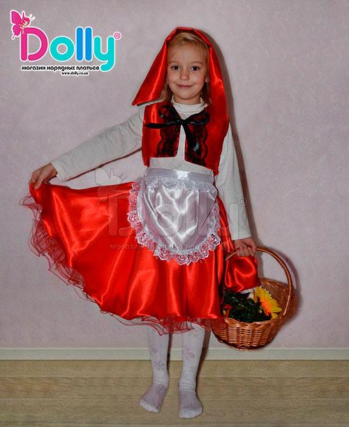 Платье Красная шапочка разноцветное