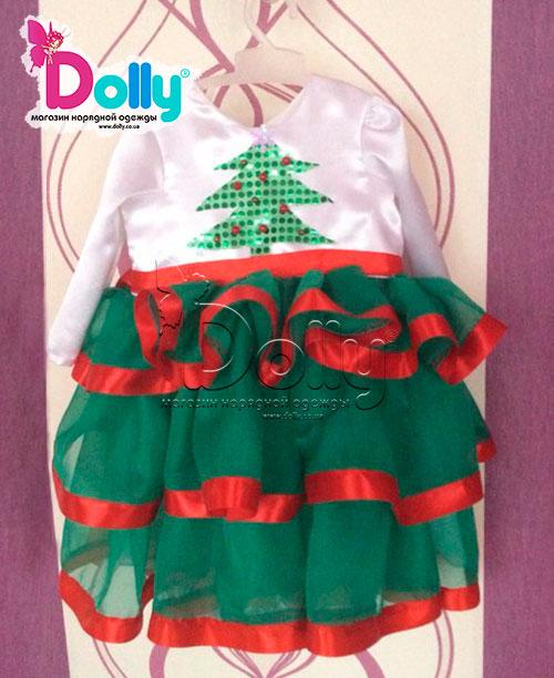 Платье Елка разноцветное