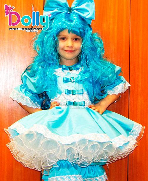 Платье Мальвина голубое