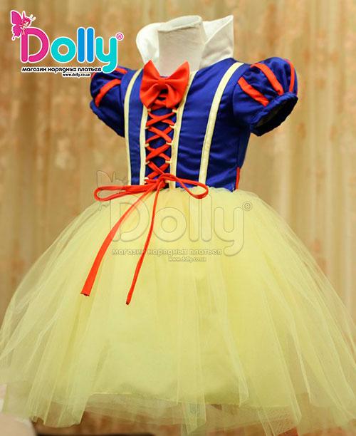 Платье Белоснежка разноцветное