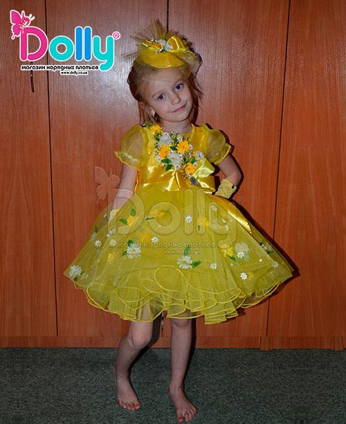 Платье Весна жёлтое