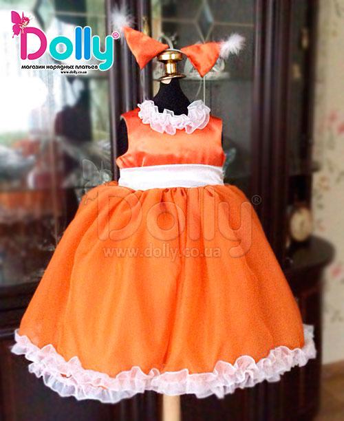 Платье Лисичка оранжевое