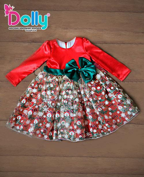 Платье Кориандр красное