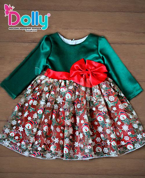 Платье Кориандр зелёное
