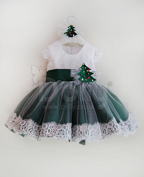 Платье Гертрудис зелёное