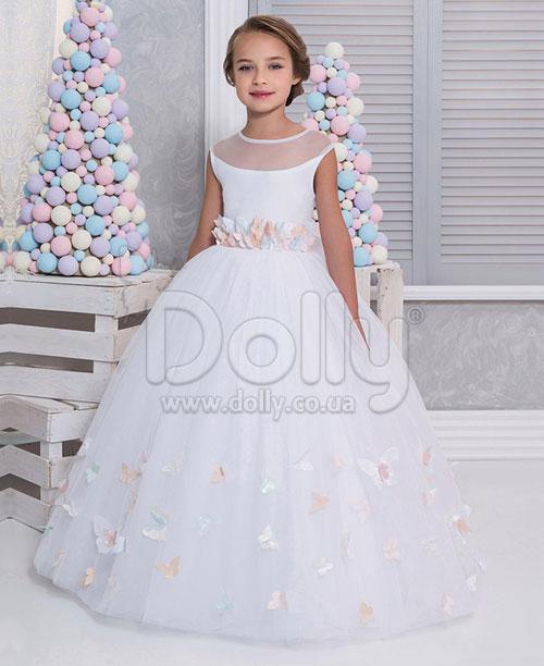 Платье Бабочка белое