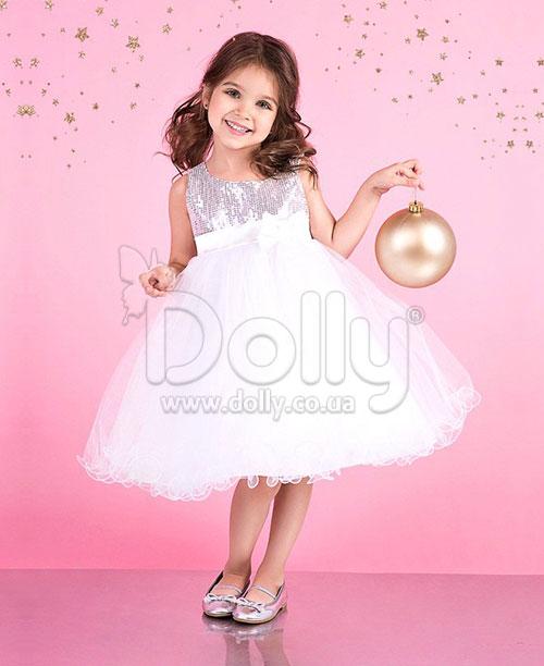 Платье Анэйс бело-серебряное