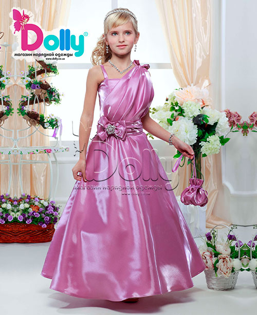 Платье Вуаля розовое