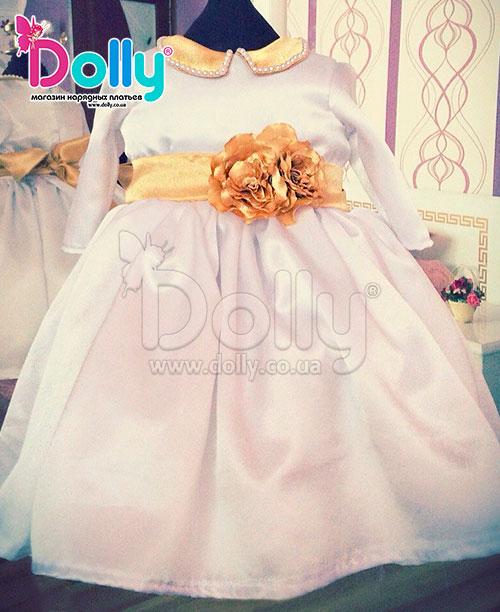 Платье Аркадия розово-золотое