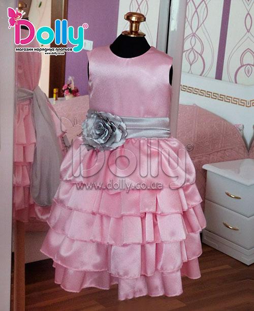 Платье Викки розовое