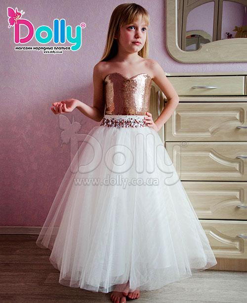 Платье Голдни бело-золотое