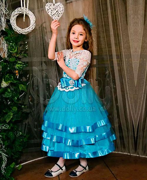 Платье Амилия голубое