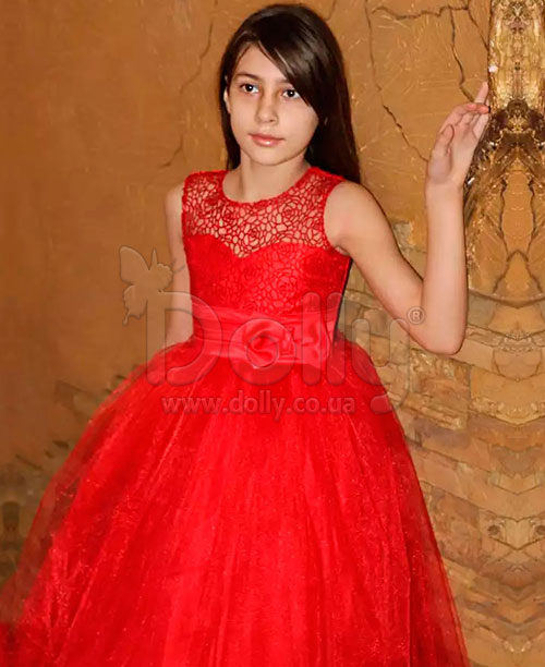 Платье Дана красное
