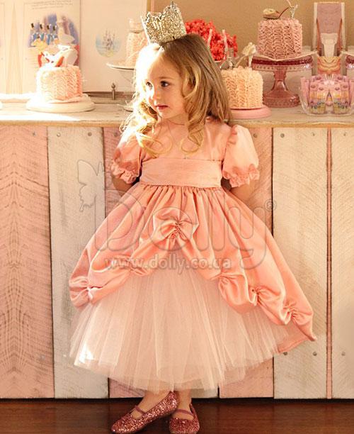 Платье Гведа персиковое