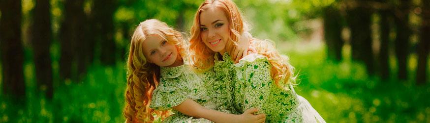 Категория Платья для мамы и дочки фото